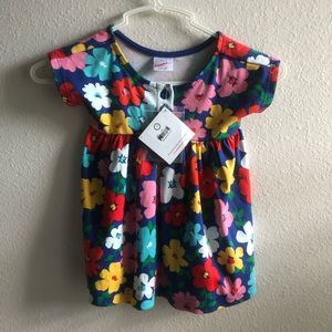 NEW Hanna Andersson Daisy Dress Button 75 cm NWT